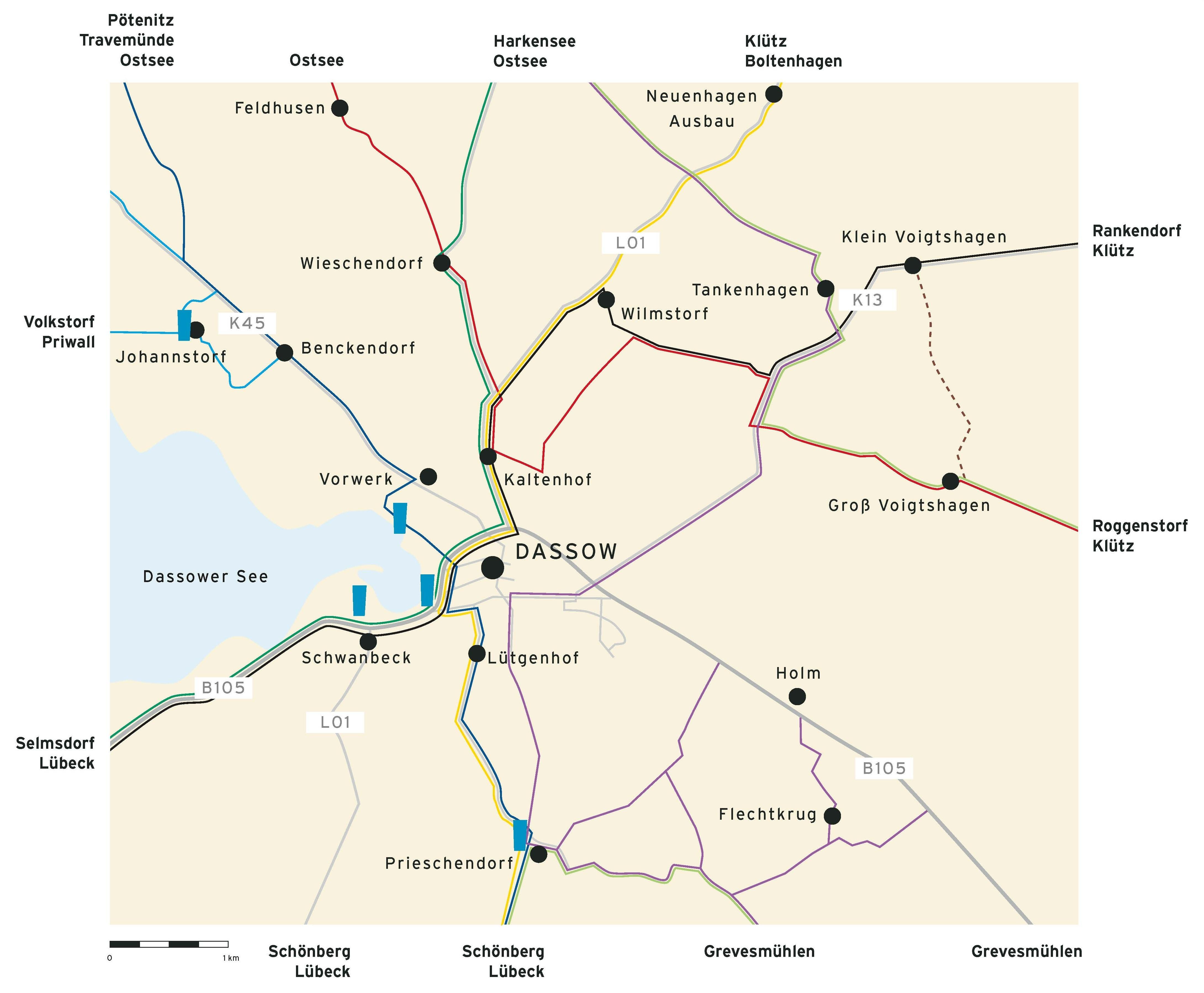 Dassow Radwege Süd