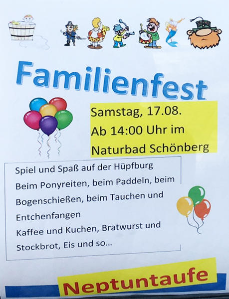Familienfest Neptuntaufe 2019