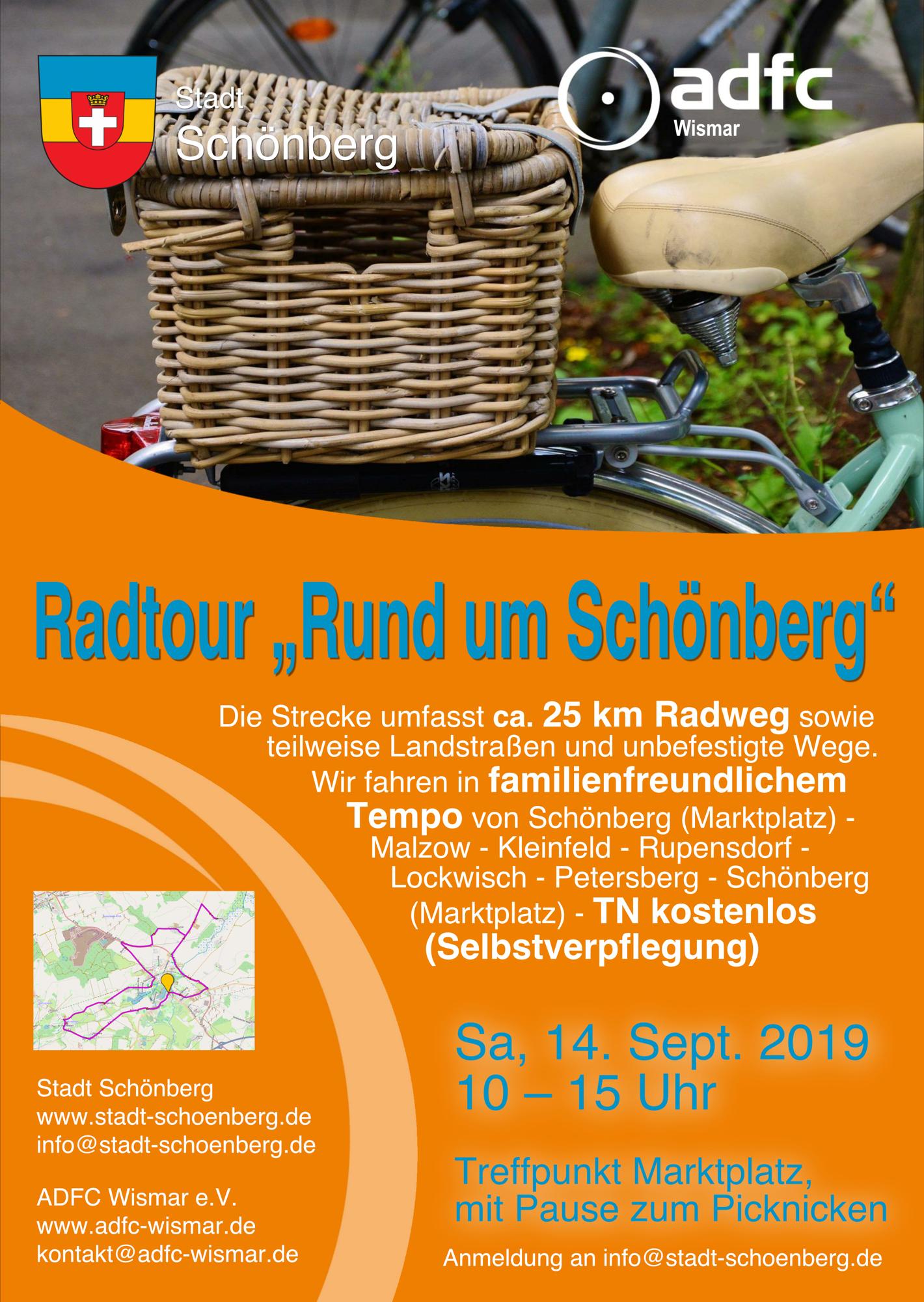 Plakat Familientour Schönberg 09-2019