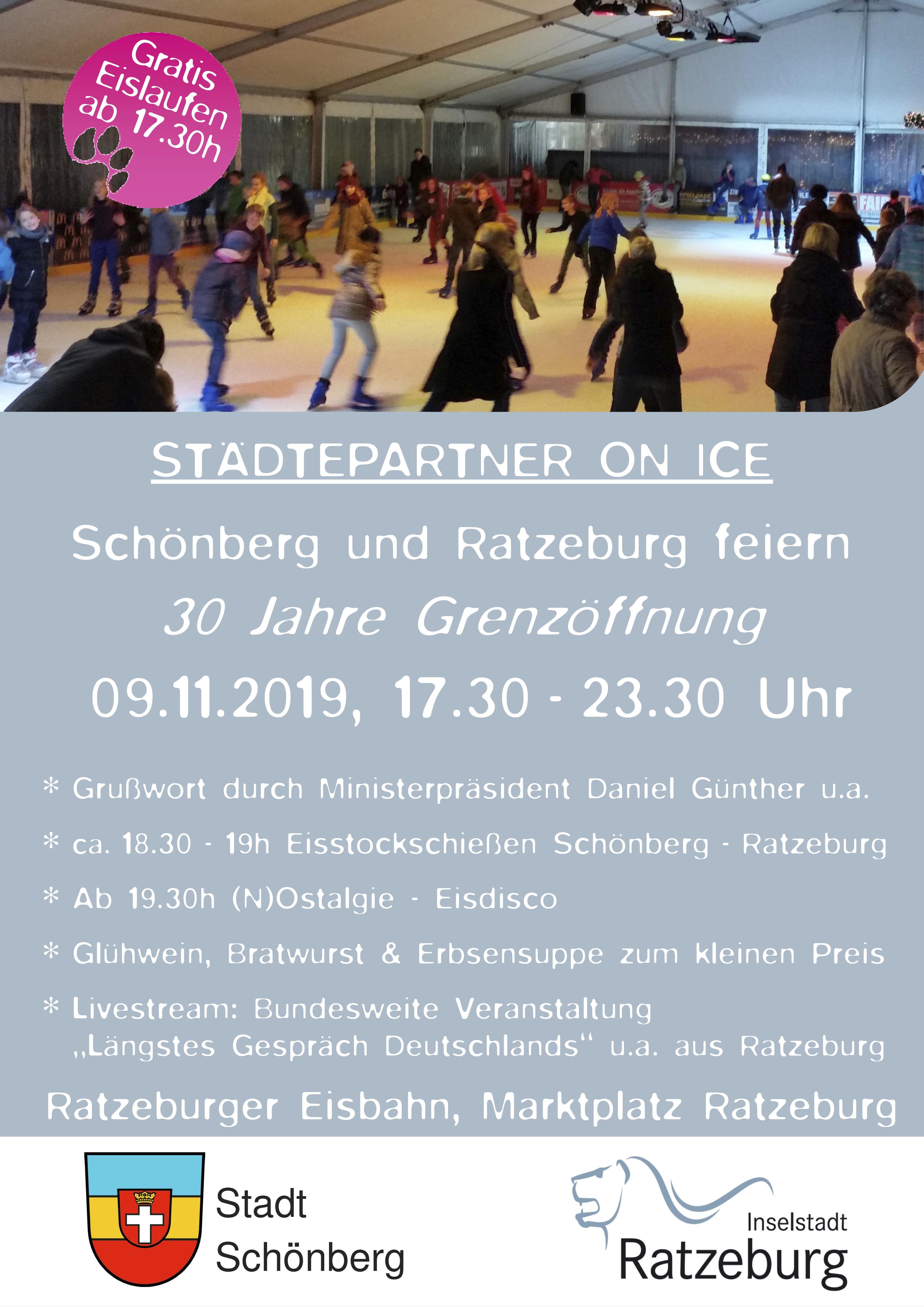 Plakat 30 Jahre Grenzoffnung - 9.11. - Feier in Ratzeburg