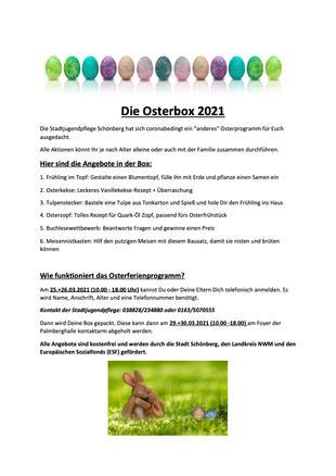 Jugendclub Osterangebot 2021