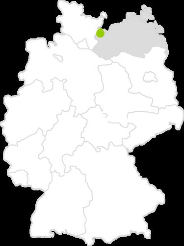 Lage Amt Schönberger Land in Deutschland